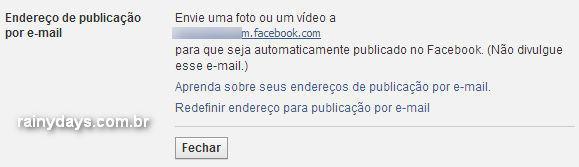 Enviar Posts para o Facebook por Email