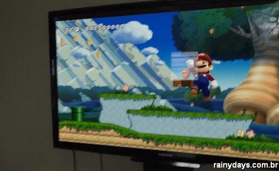 Mario Salta de um Jogo da Nintendo