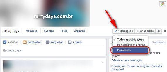 Parar de Receber Notificações de Grupo no Facebook
