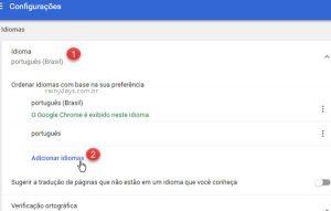 Adicionar dicionários ao corretor ortográfico do Chrome
