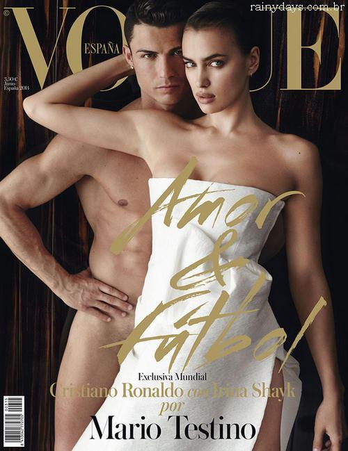 Cristiano Ronaldo Nu com Irina Shayk na Vogue Espanha