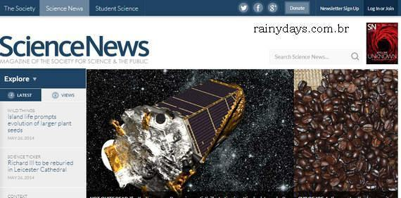 Excluir Conta do Science News