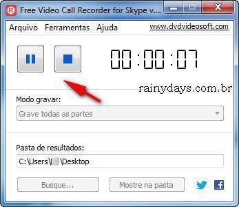 Como Gravar Conversa com Vídeo no Skype