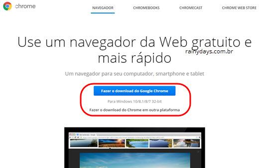 Instaladores offline do Chrome e Firefox