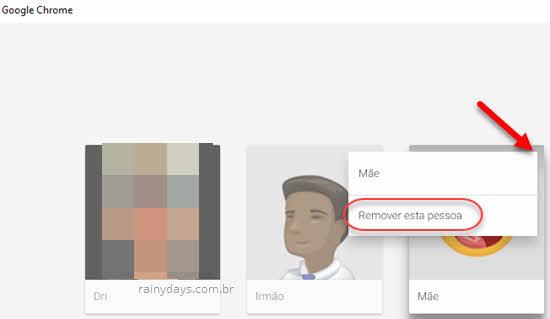 Remover esta pessoa do Chrome apagar perfil