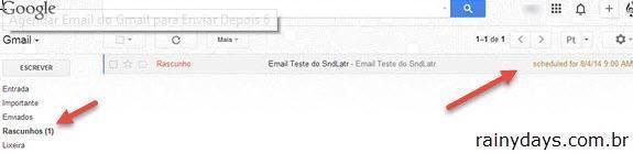 Agendar email do Gmail para enviar depois 3