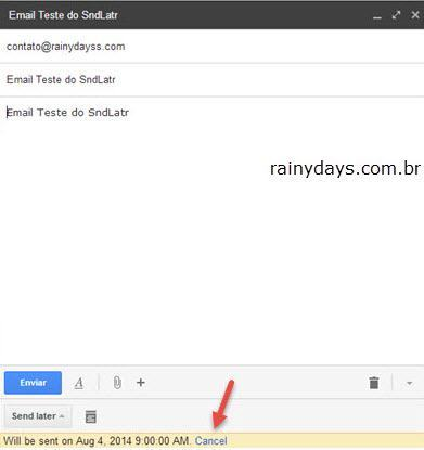 Agendar email do Gmail para enviar depois 4