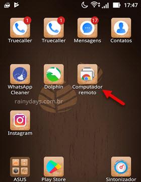 aplicativo Chrome Remote Desktop Android