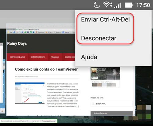 enviar Ctrl-Alt-Del para PC pelo Android Chrome