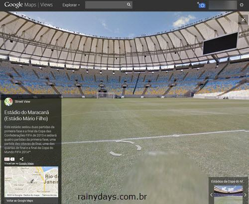 Estádios da Copa no Google Street View
