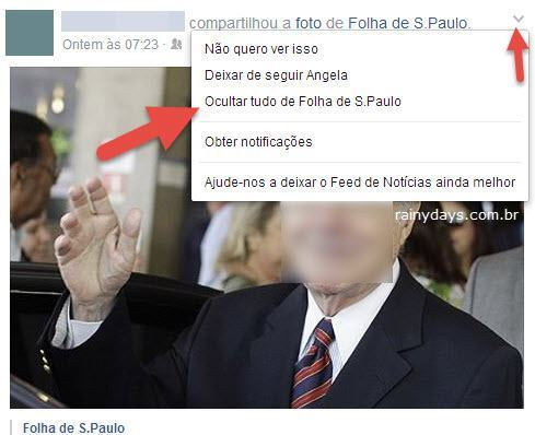 Excluir Site do Feed de Notícias do Facebook