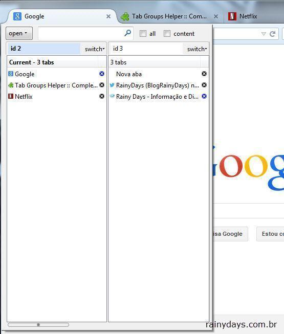 Organizar Grupos de Abas do Firefox