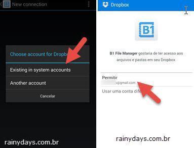 Adicionar várias contas do Dropbox no Android 2