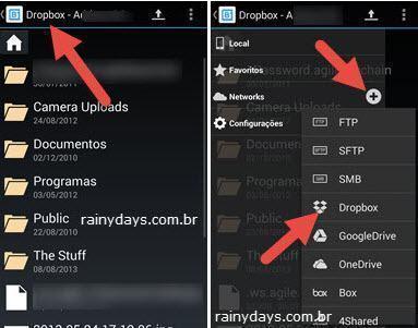 Adicionar várias contas do Dropbox no Android 3