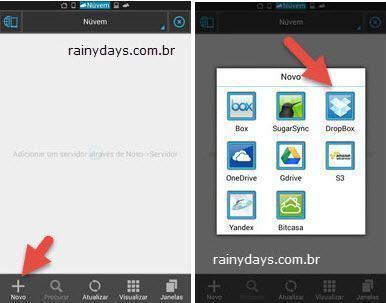 Adicionar várias contas do Dropbox no Android 6