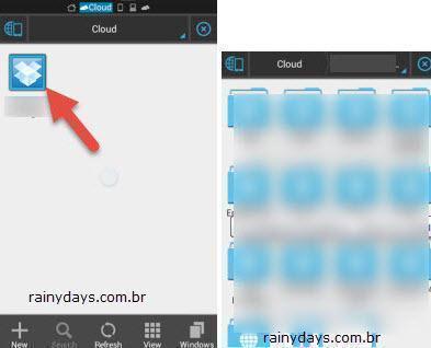 Adicionar várias contas do Dropbox no Android 8