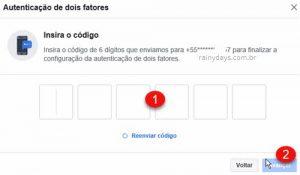 Autenticação de dois fatores no Facebook