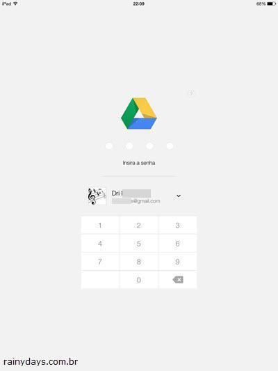 Bloquear Google Drive com Senha