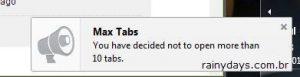 Limitar número de abas abertas no Firefox