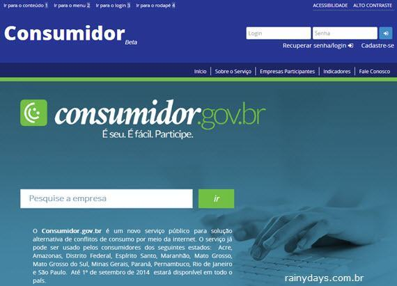 Site do Governo para Reclamação Contra Empresas