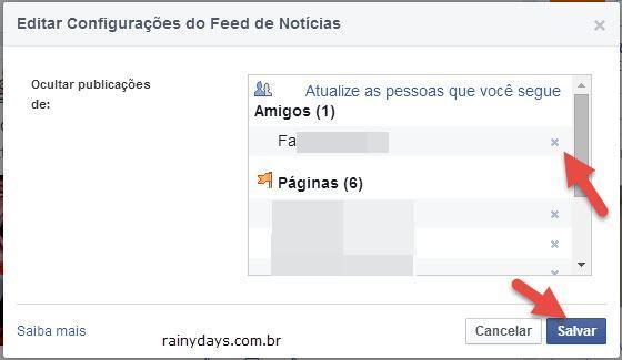 Reexibir Conteúdo Escondido do Feed de Notícias Facebook