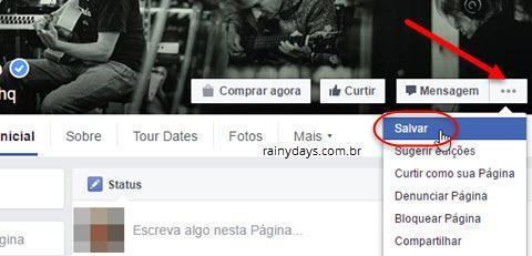 Como salvar posts do Facebook para depois 2