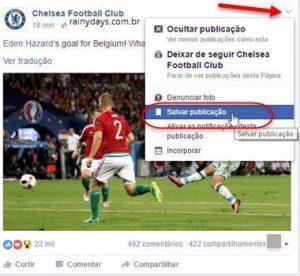 Como salvar posts do Facebook para depois