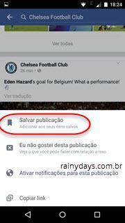 salvar posts do Facebook pelo aplicativo móvel 2