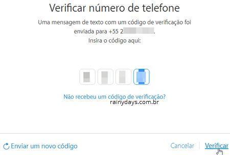 Verificação em Duas Etapas no iCloud Apple 5