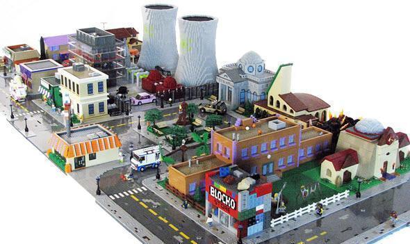 Cidade dos Simpsons em LEGO por Matt De Lanoy