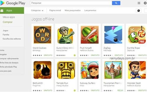 Jogos offline para Android na Google Play