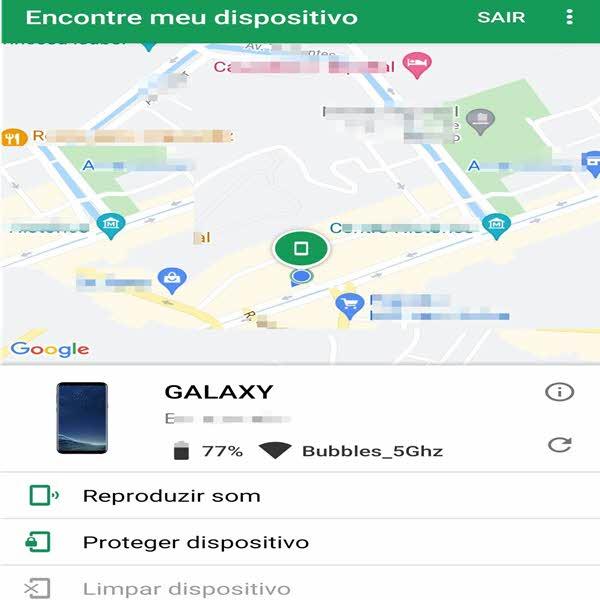 Mapa encontrar aparelho celular perdido roubado, Google Maps Android