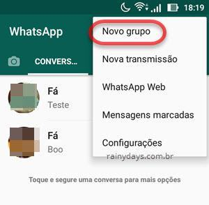 Novo grupo WhatsApp