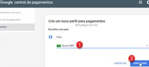 Como mudar país na Google Play