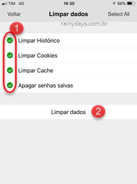 Limpar histórico de navegação Dolphin Android iOS
