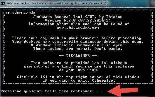 Remover barras de ferramentas e malwares 3