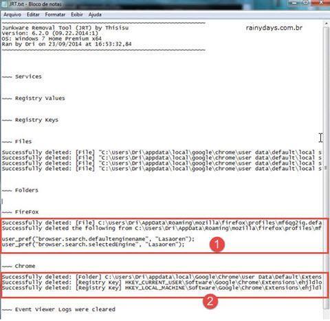 Remover barras de ferramentas e malwares 5