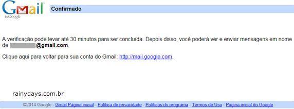 30 minutos permissão para acessar Gmail