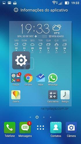 Adicionando atalho das configurações na tela inicial Android