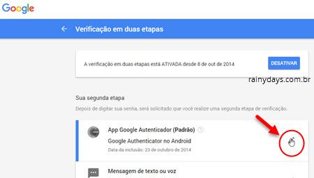 adicionar conta no Authy do chrome