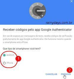 adicionar conta no Authy do chrome 3