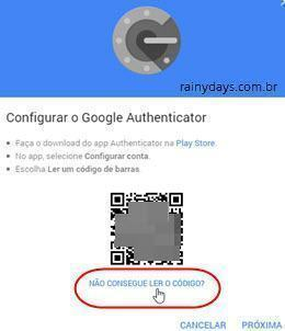 adicionar conta no Authy do chrome 4