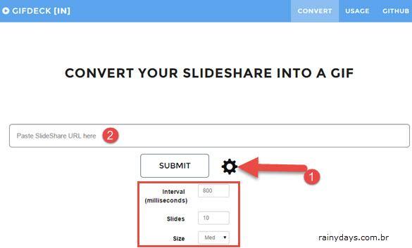 Converter Apresentações de Slide em GIFs