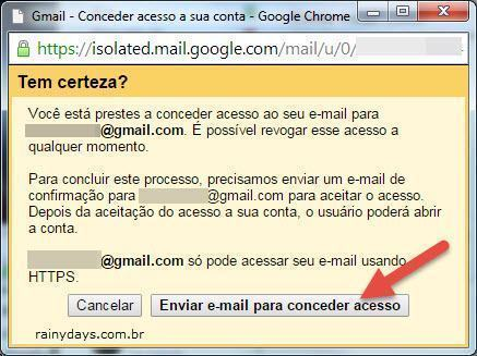 Dar Permissão para Outra Pessoa Acessar seu Gmail