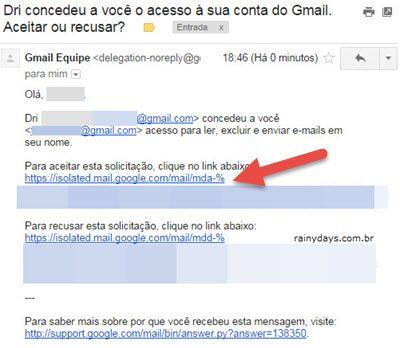 email aceitar solicitação acesso ao Gmail