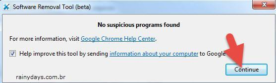 Ferramenta do Google para Limpar o Chrome
