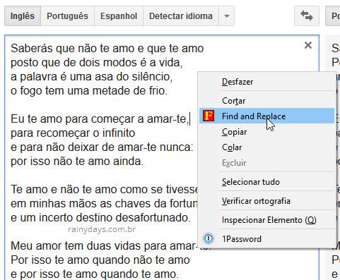 Localizar e substituir palavras no Firefox