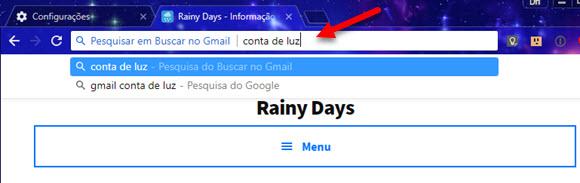 Pesquisar dentro do Gmail pela barra do Chrome