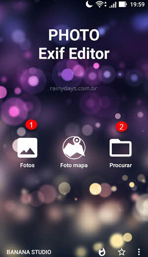 Photo Exif Editor app Android apaga dados local