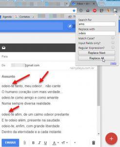 Localizar e substituir palavras no Chrome e Firefox